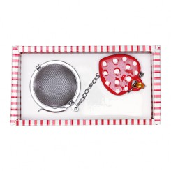 GreenGate Teæg - Tea infuser - Haven Red